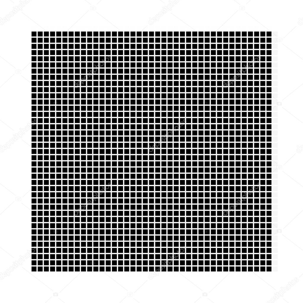 Quadrat. Das einfache geometrische Muster schwarzen Vierecke mit ...