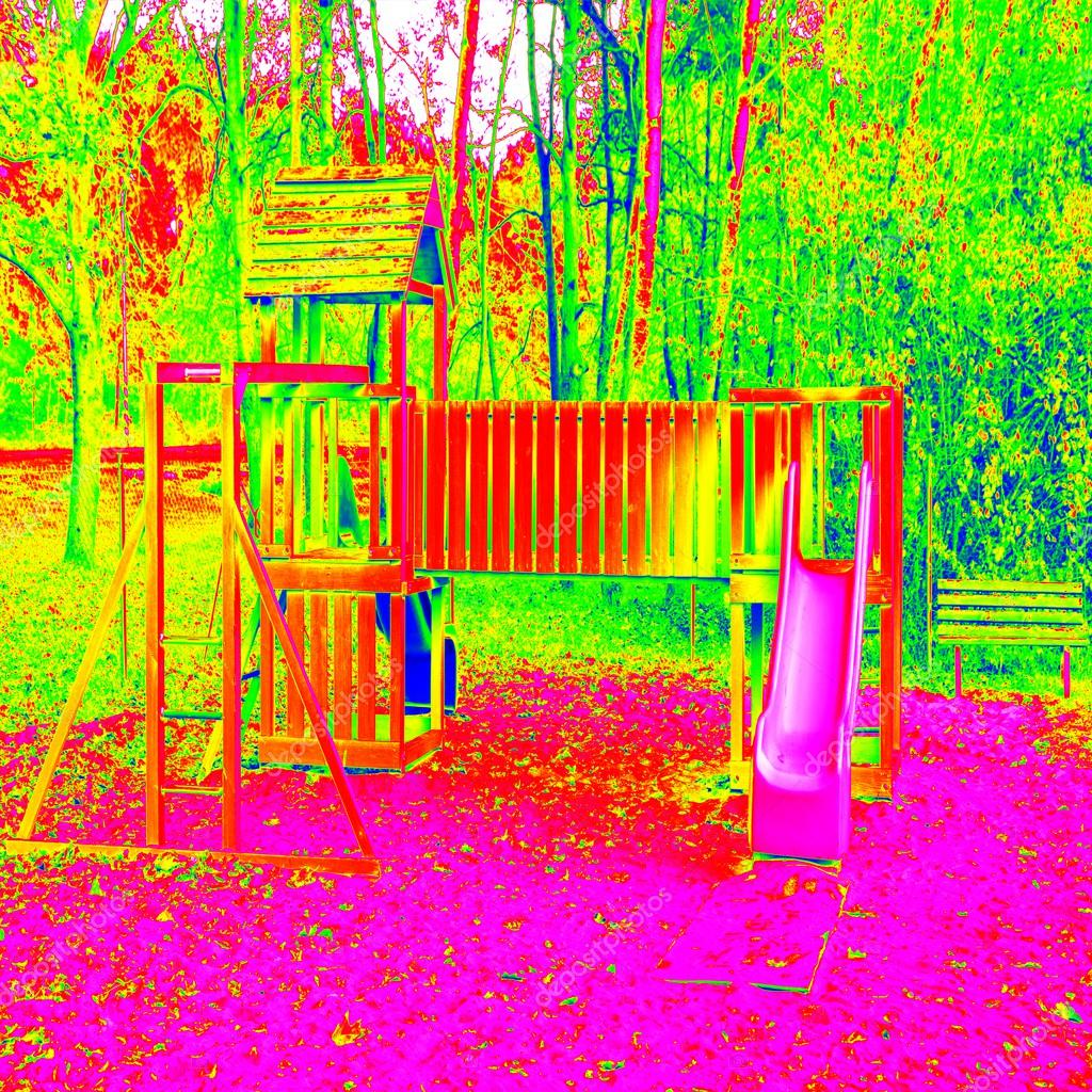 parque infantil en colores de termografa juegos de equipo de madera para nios