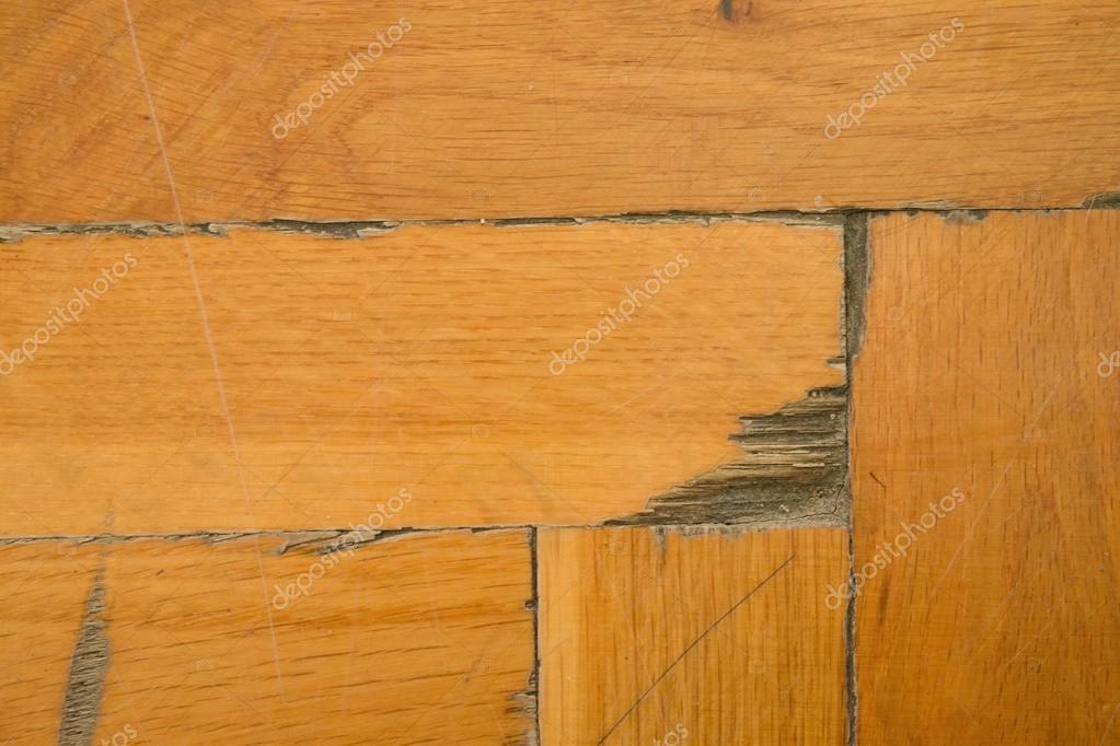 Houten vloer van sporthal versleten. licht houten vloeren van worned