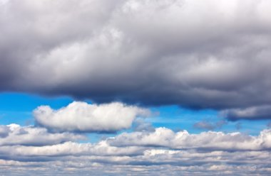Blue sky with clouds. Composition of Nature.