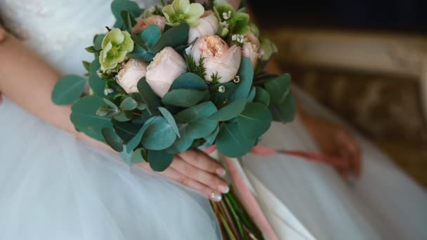 Svatební kytice. Closeup