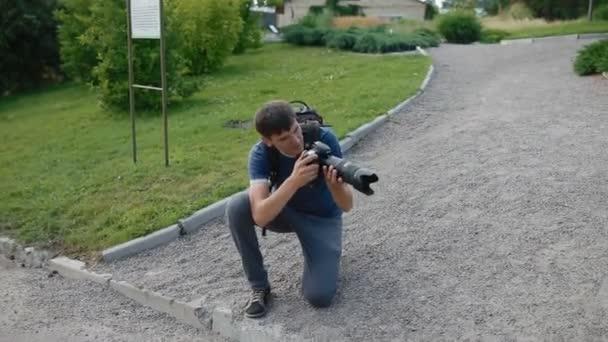 Lavoro di fotografo allaperto