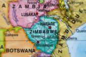 Mapa země Zimbabwe