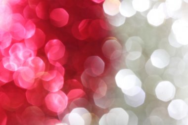 Red and silver sparkle background - Christmas soft lights background