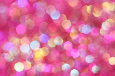 Pink, purple, white, yellow and turquoise soft lights abstract background