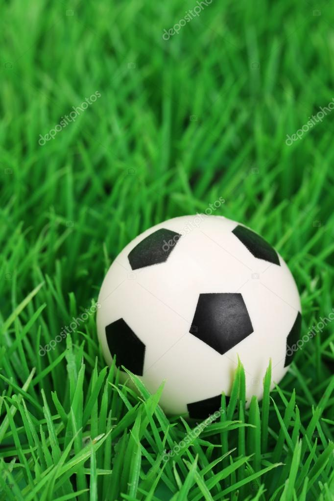 Pallone Da Calcio Su Un Campo In Erba Verticale Foto