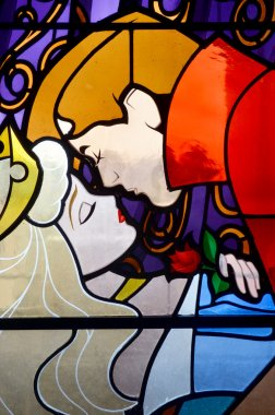 Disney Sleeping beauty stain glass window.