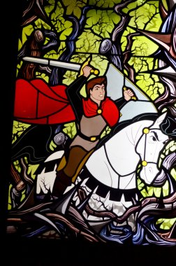 Disney Sleeping beauty stain glass window.