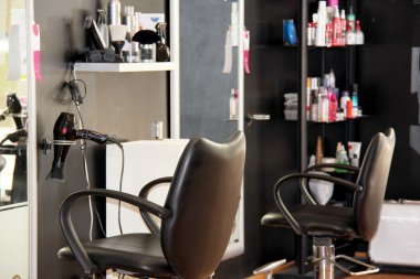 Modern hair salon