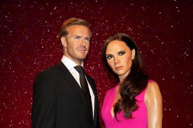 David Beckham and  Victoria Beckhan