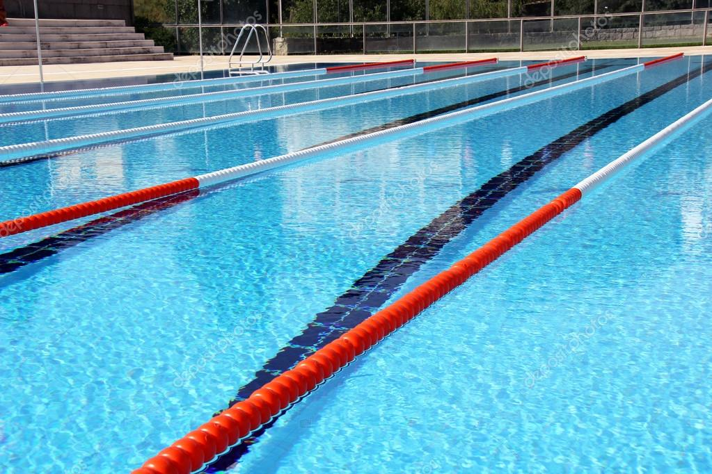 swimming pool lane ropes stock photo 74949531 - Olympic Swimming Pool Lanes