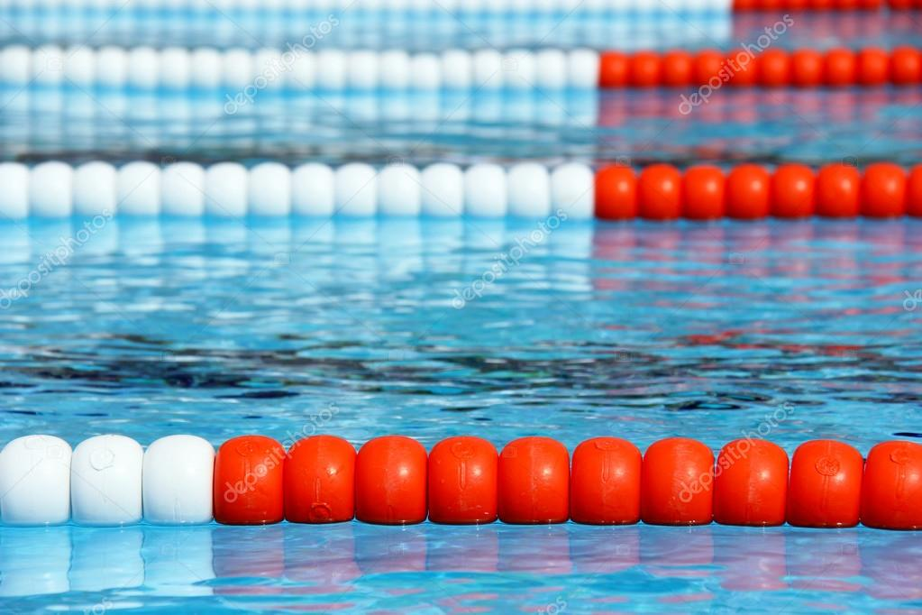 olympic swimming pool lanes. Swimming Pool Lane Ropes \u2014 Stock Photo Olympic Lanes