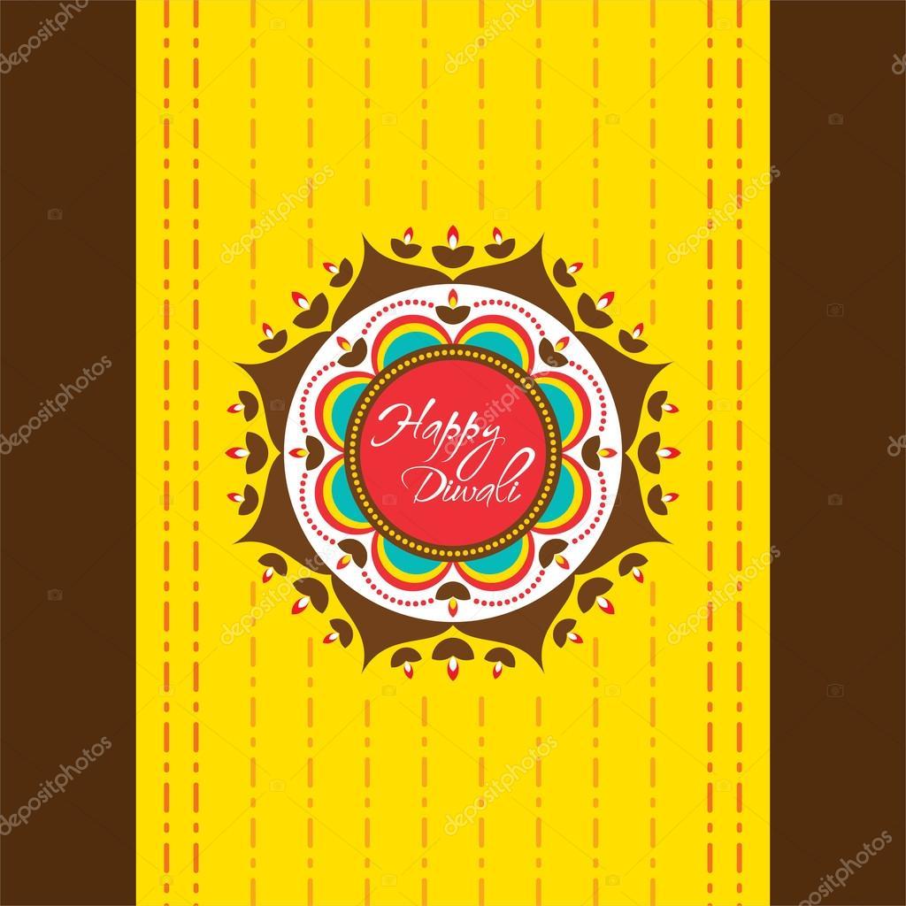 Happy Diwali Greeting Card Stock Vector Vectotaart 122149436