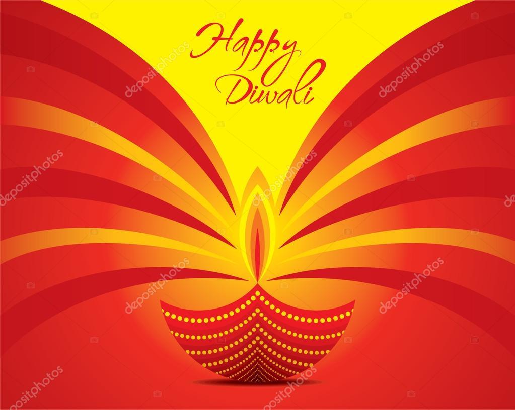 Creative Happy Diwali Greeting Stock Vector Vectotaart 122150030