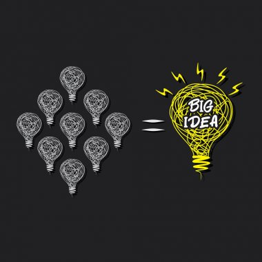 Small idea make big idea concept