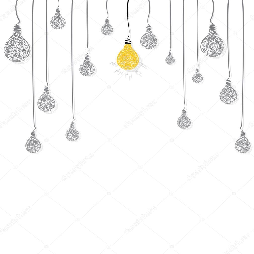 Creative new idea bulb glow background