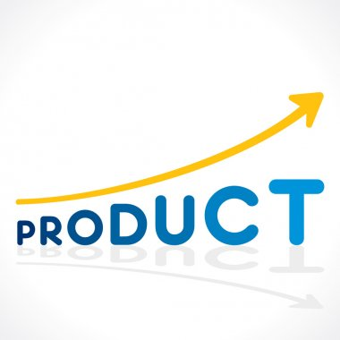 Creative increase product sell growth graph