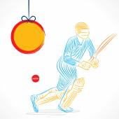 Cricketspieler Ball den