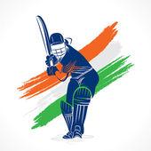Cricket-Spieler mit ungarischer Flagge