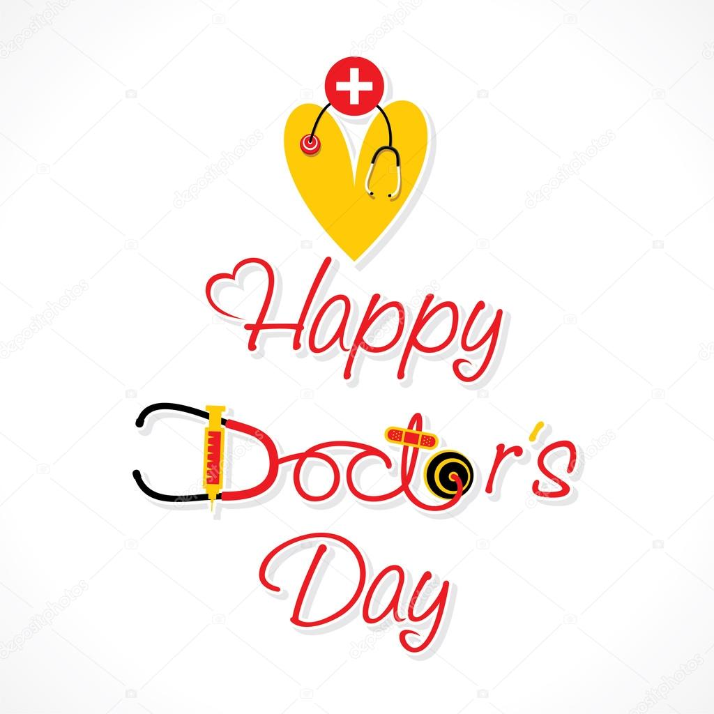 Doctors day greeting card