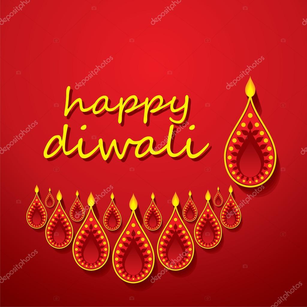 Creative Happy Diwali Greeting Design Stock Vector Vectotaart