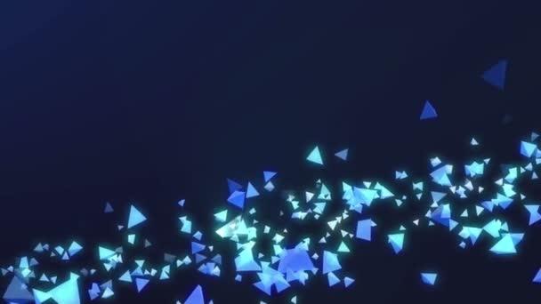 Tmavě modré pozadí abstraktní s létáním tvary