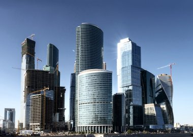 Modern skyscrapers in Moscow