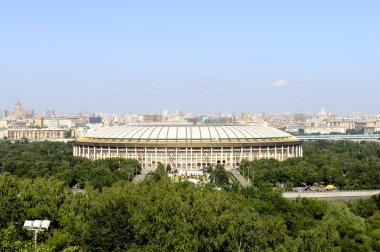 view of Moscow and Luzhniki Stadium