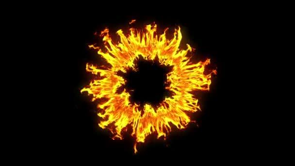 Krásný Ring of Fire smyčce. HD 1080. Alfa kanál