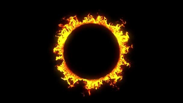 Végtelenített gyönyörű Ring of Fire. HD 1080. Alfa-csatorna.