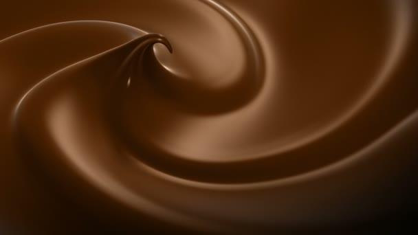 Zvlněná čokoláda Close-up tvořili animace. HD 1080