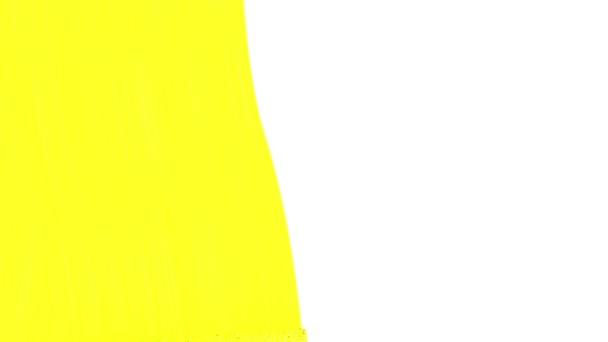 Válečkové malování žlutou barvu. Vhodné pro přechody. Loop schopný. Alfa kanál. HD 1080