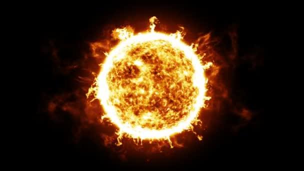 Sun Solar výčnělky a výbuchy. HD 1080. Smyčky animace.