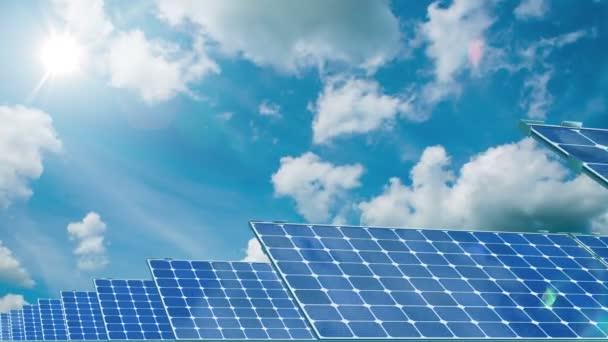 Solární panely. 4k