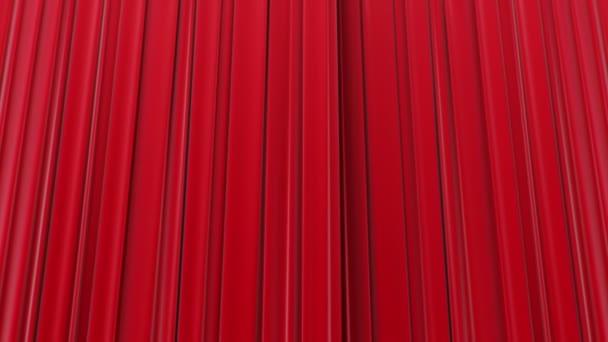 zoomen op de rode gordijnen openen en sluiten 3d animatie hd 1080