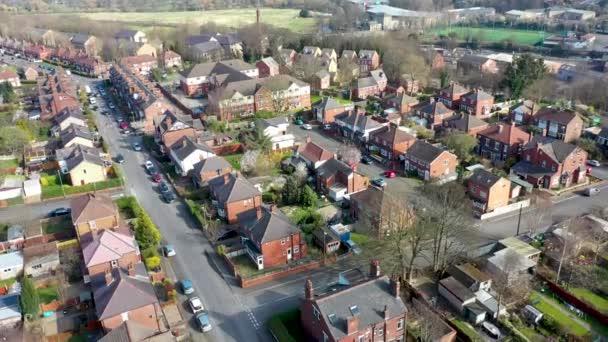 Légi felvétel a város Kirkstall Leeds West Yorkshire az Egyesült Királyságban, amely egy drón kilátás nyílik a külvárosi házak és környéke felülről.