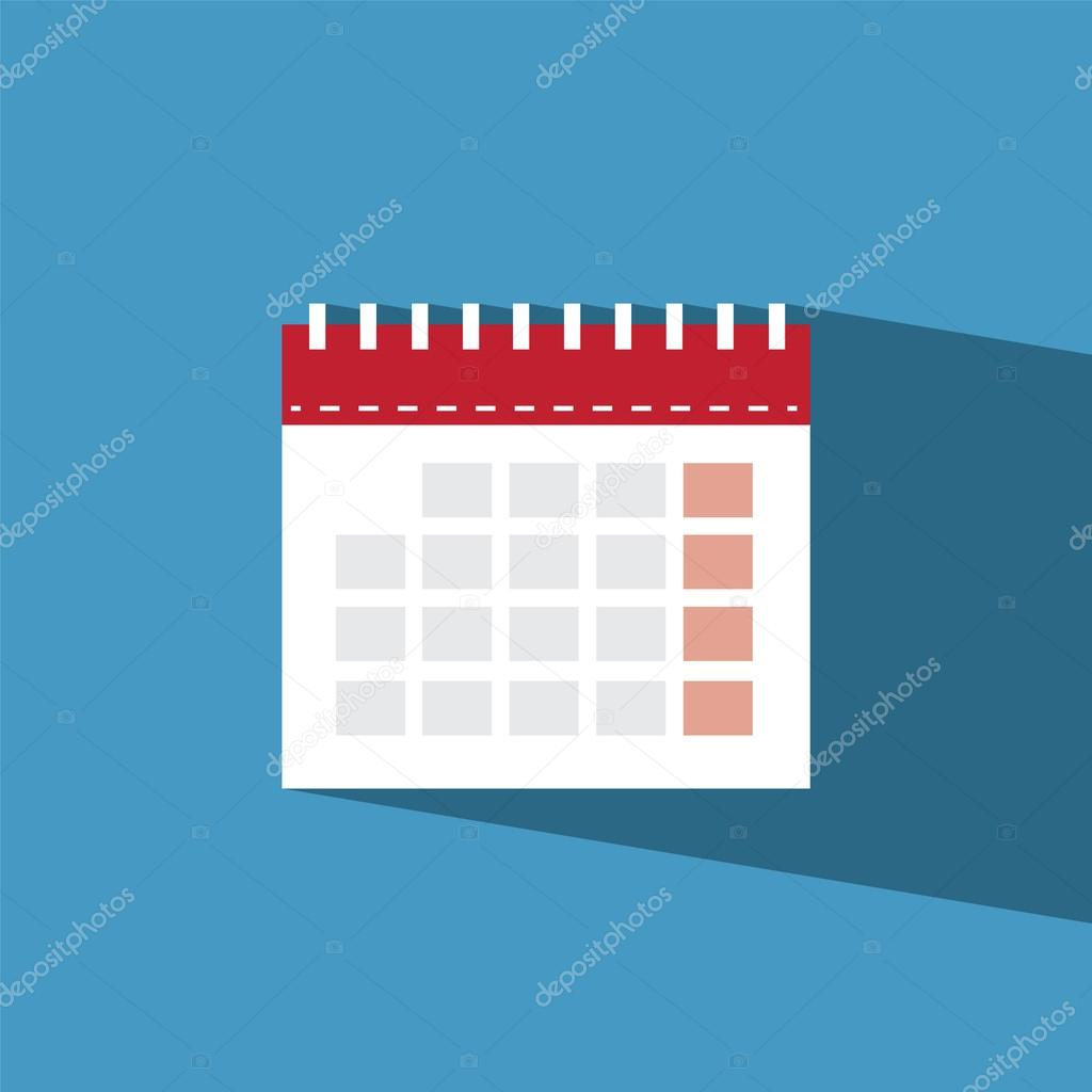 calendar flat icon  vector illustration eps10