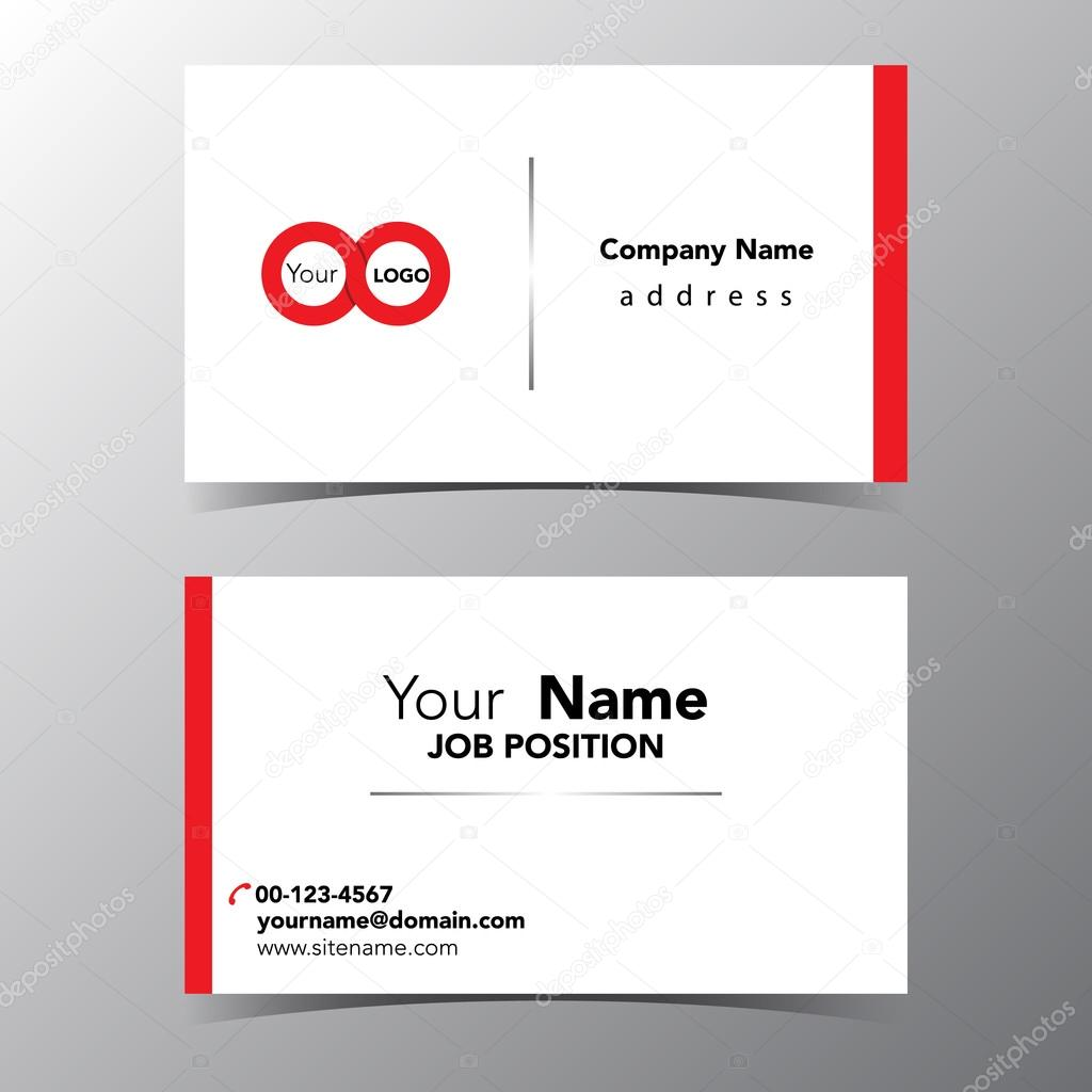 business name card template vector illustration eps 10 — Stock ...