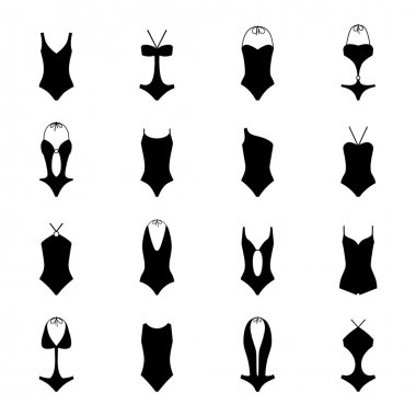 Set of swimsuits, vector illustration