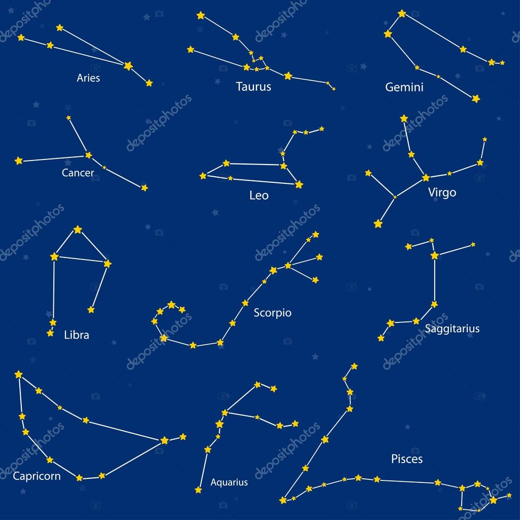 constellation de signes du zodiaque illustration vectorielle image vectorielle k tatsiana. Black Bedroom Furniture Sets. Home Design Ideas