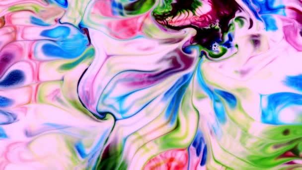 Abstraktní barevné rukopisné umění