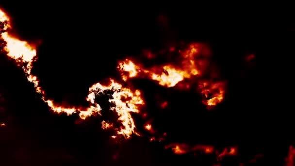 Hořící mraky časová prodleva