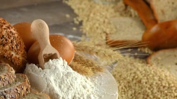 Bread Flour Wheat Egg Food Concept
