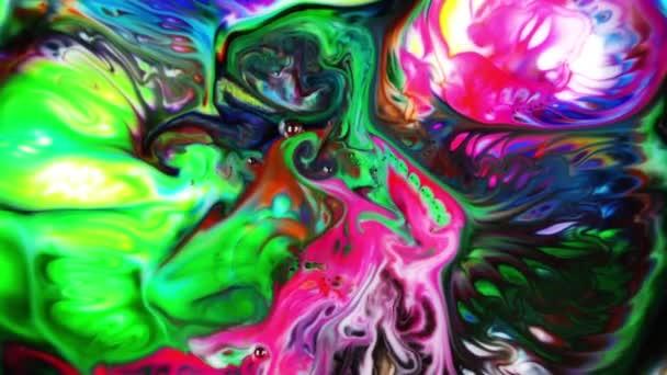 Abstraktní barevné barvy inkoustu kapaliny explodovat difúze Pshychedelic výbuch hnutí