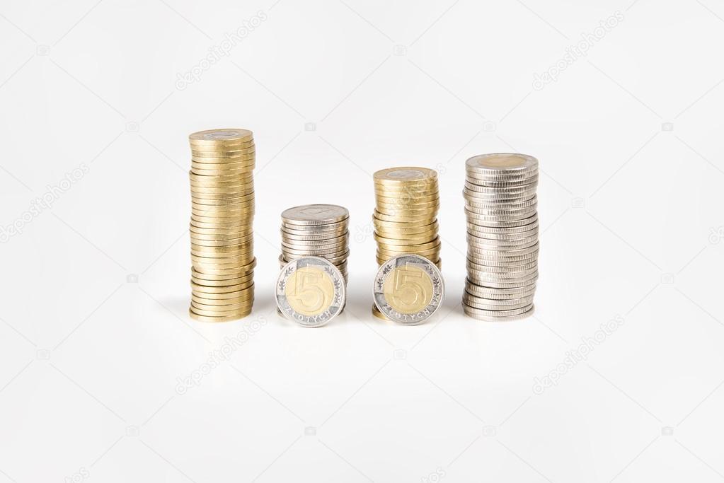 Münzen In Polen Polnische Zloty Pln Stockfoto Photografeus
