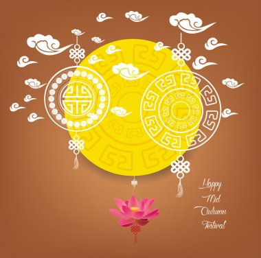 Mid Autumn Lanterns Festival  background