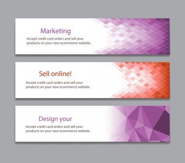 Abstract light purple banner