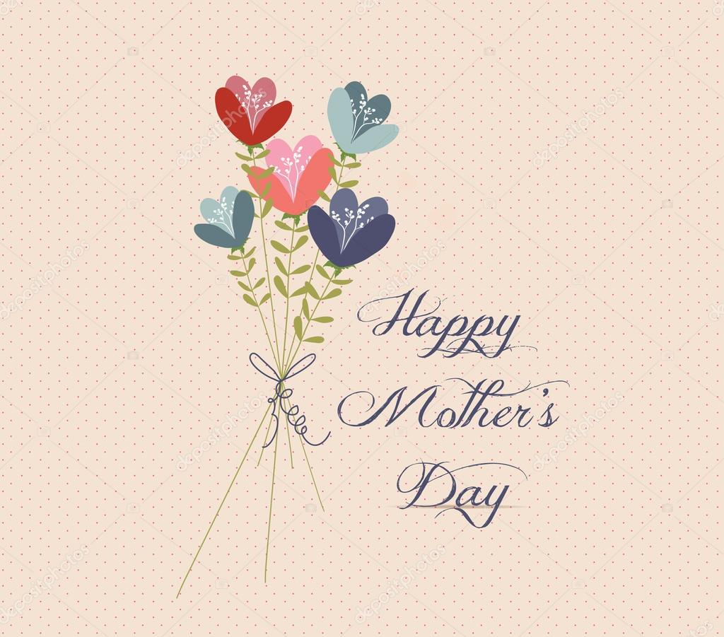 Mothers day Flower Bouquets retro