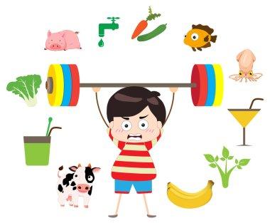 Vector - fitness healthy lifestyles stock vector