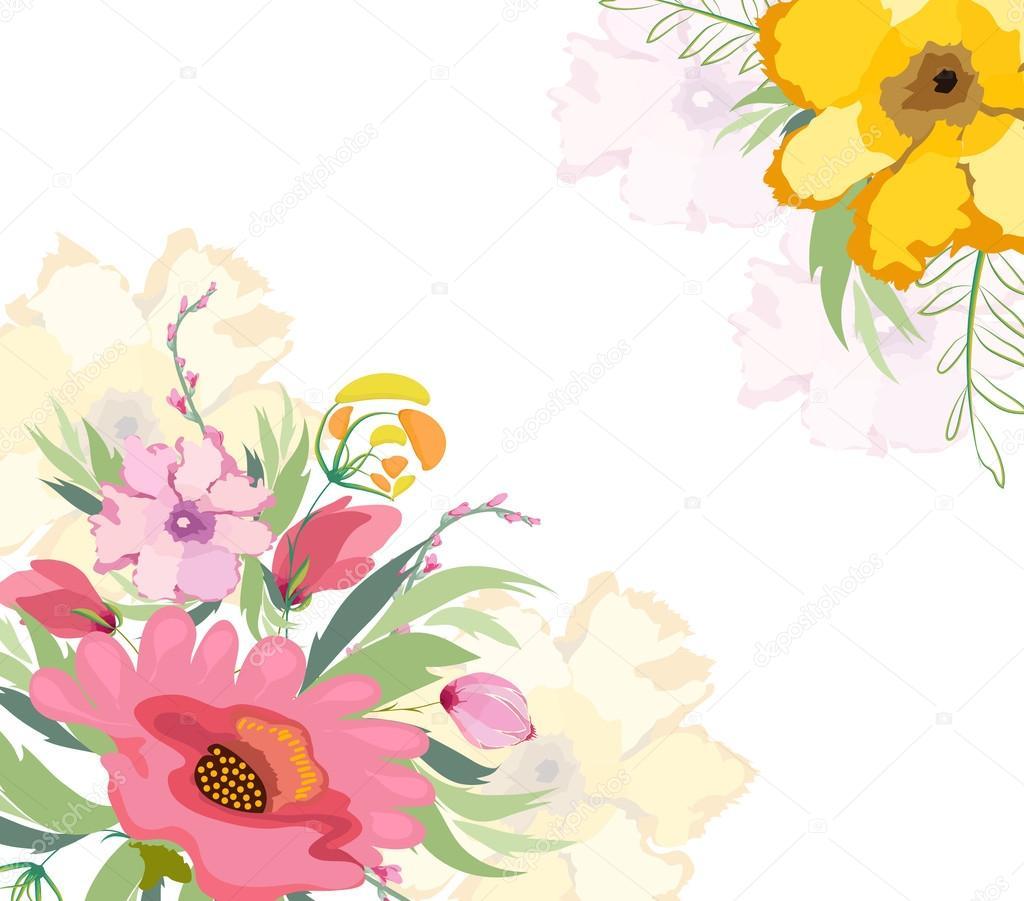 Fondo: Fondos Florales Vectoriales